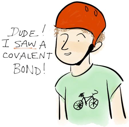 Covalent Bond Biker