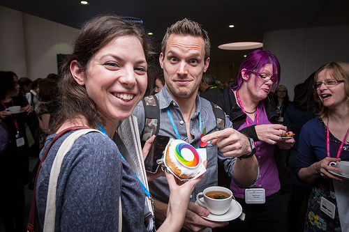 Our real-life Altmetric donuts got a lot of love at SpotOn London 2013! Photo credit: Jason Wen
