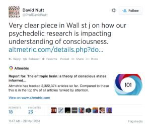 David Nutt's tweet