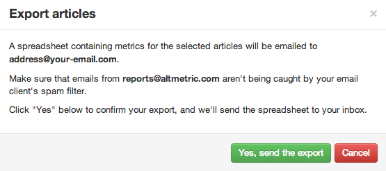 Export articles box