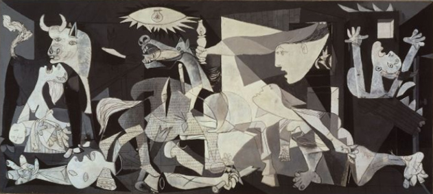 PICASSO, la exposición del Reina-Prado. Guernica is in the collection of Museo Reina Sofia, Madrid.