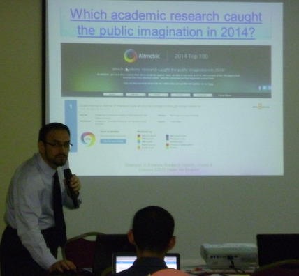 Nader Discussing Altmetric data at his most recent workshop
