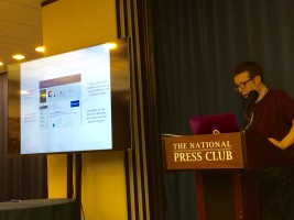 Altmetric CEO Euan Adie speaking about Altmetric for Books at the Altmetric Institutional Day in Washington D.C.