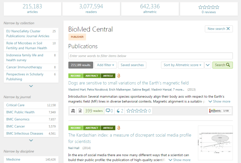 BioMedCentral guest blog